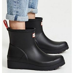 Hunter Original Play Boot Short Black Rainboots 8